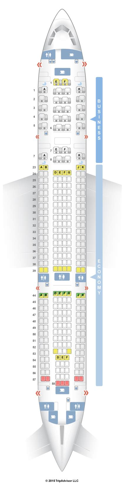 cook siege seatguru seat map qantas airbus a330 200 332 domestic