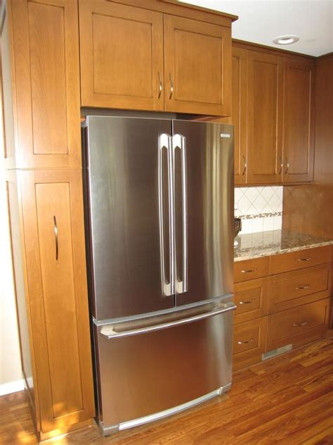 refrigerator surround cabinets  cabinet depth