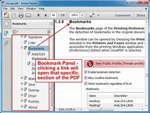 adding pdf bookmarks with novapdf With pdf document bookmark