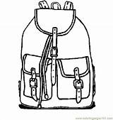 Backpack Drawing Coloring Backpacks Clipartmag Camping Colouring Cartoon Books sketch template