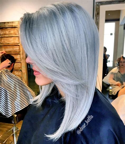 Is Platinum A Hair Color by Platinum Silver Hair Color With Subtle Shadow Root