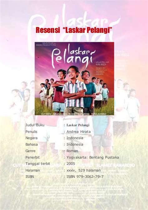 Contoh Resume Novel Laskar Pelangi by Resensi Novel Indonesia New Style For 2016 2017