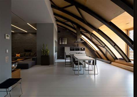 industrial space  arc roof transformed