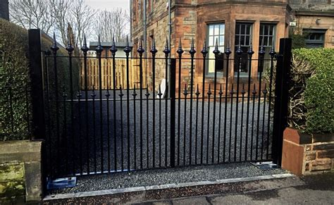 electric driveway gates glasgow metal wrought iron driveway gates edinburgh glasgow scotland