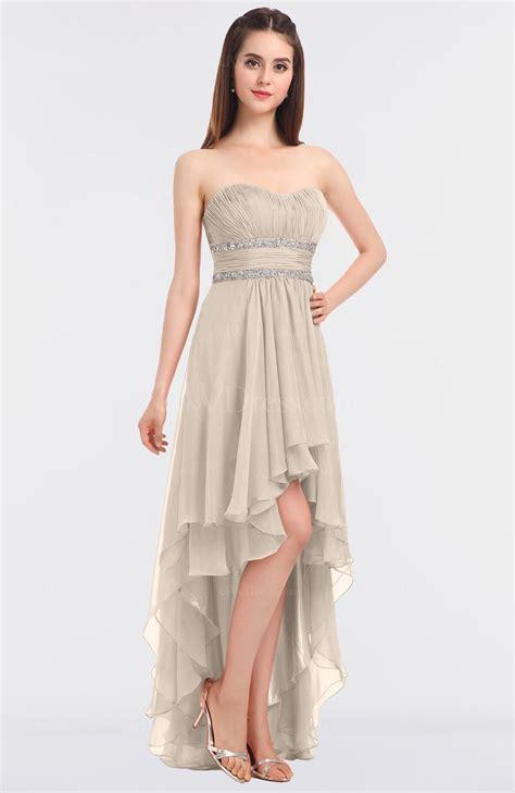 pastel rose tan elegant strapless sleeveless zip