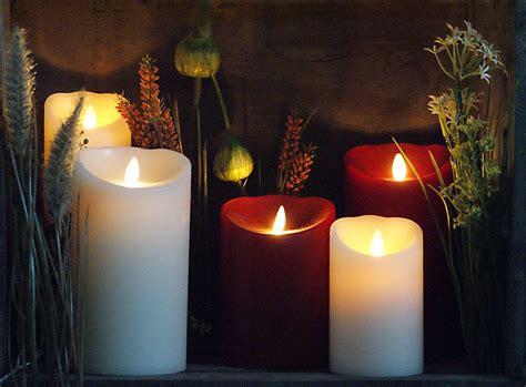 Led Kerze Echtwachs D 10 X H 13 Cm Bordeaux Rot