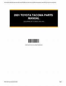 2001 Toyota Tacoma Parts Diagram