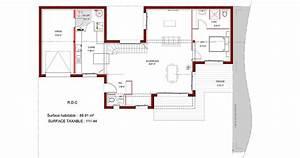 plan maison plain pied toit plat mc immo With plan maison toit plat 120m2