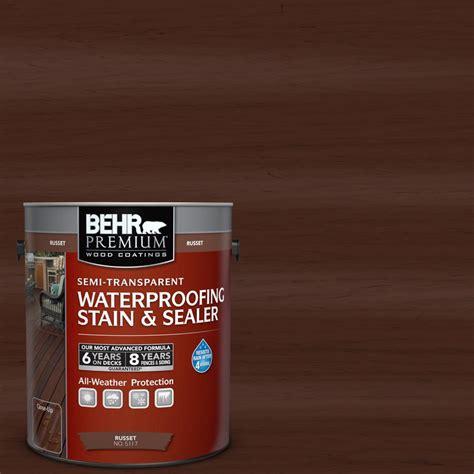 Behr Deck Cleaner No 64 by Behr Premium 1 Gal St 117 Russet Semi Transparent