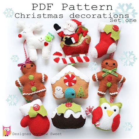 Magicforest Tree Sewing Set decorations set one pdf pattern sew your own