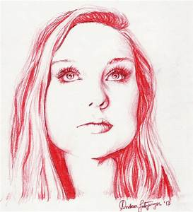 Anna Red Colored Pencil Drawing by alitzs on DeviantArt