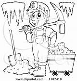 Miner Cave Clipart Outlined Visekart Without Collc0161 sketch template