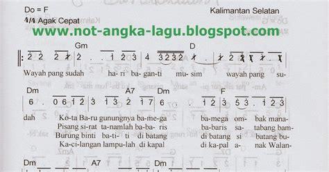 not angka lir ilir not angka barantai kumpulan not angka lagu