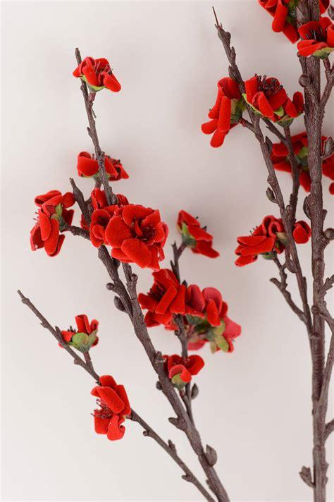 plum blossom spray red