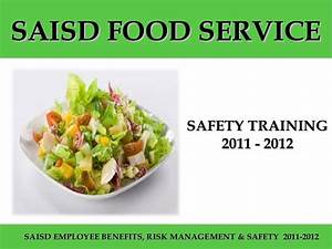 Food service safety training 2011 2012