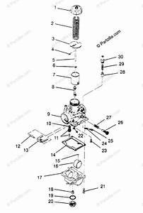 Polaris Atv 1995 Oem Parts Diagram For Carburetor 4x4 300