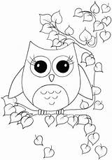 Owl Coloring Pages Cartoon Animals Print Bird Craft Nocturnal Clip Owls Printable Colouring Cute Printables Sheets Colour Animal Owlcoloring Sheet sketch template