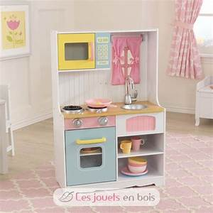 Cuisine Pour Enfant En Bois : kidkraft 53354 cuisine pastel country jolie cuisine en bois pour enfant ~ Dode.kayakingforconservation.com Idées de Décoration