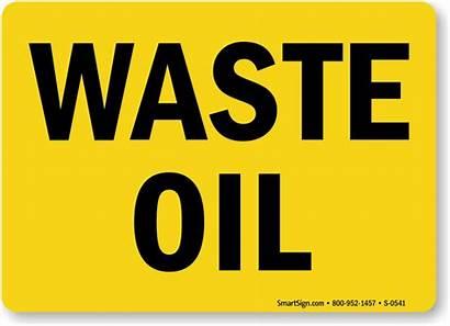 Waste Oil Chemical Hazard Signs Hazardous Mysafetysign