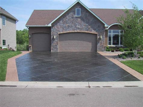 stained driveway ideas we love concrete inspiration if you re looking for some options on decorative exposed sted