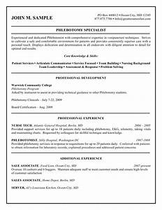 phlebotomist resume sample no experiencephlebotomy resume With entry level phlebotomy cover letter sample