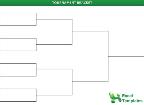 Bracket Template Tournament Bracket Templates For Excel Tournament All