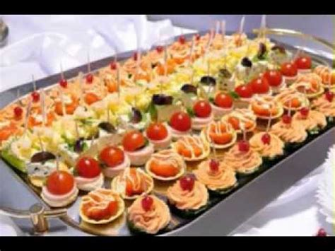 savoury canapes simple food buffet ideas