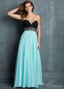 Top Prom Dress Designers Black Blue Strapless Sequined Waist Sparkly Long Prom