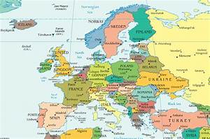Maps Update #1213806: Travel Map Of Europe With Cities ...