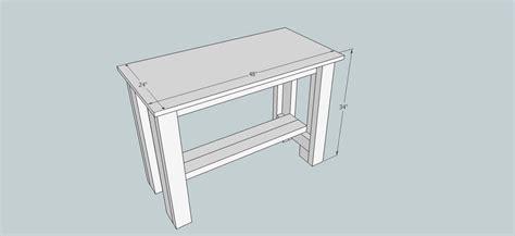 sturdy work bench ana white
