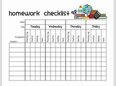 Homework Assignment Checklist by Organized Chaos TpT