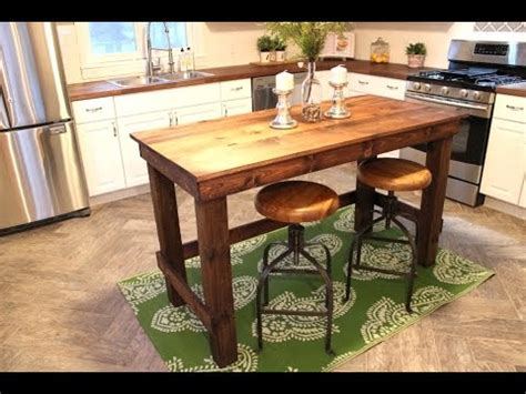 small kitchen island on wheels the 20 kitchen island easy diy project