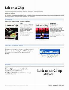 contents and highlights in chemical biology lab on a With lab on a chip template