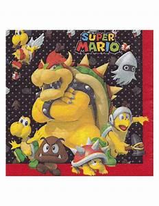 Super Mario Deko : papierservietten super mario computerspiel deko 20 st ck bunt g nstige faschings partydeko ~ Frokenaadalensverden.com Haus und Dekorationen