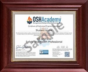 Free Certificates For Students Oshacademy 233 Hour Oil And Gas Safety And Health