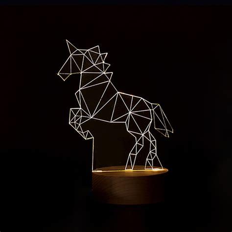 3d led l unicorn gift 1piece l2218 unicorn l 3d led creative gifts bedroom