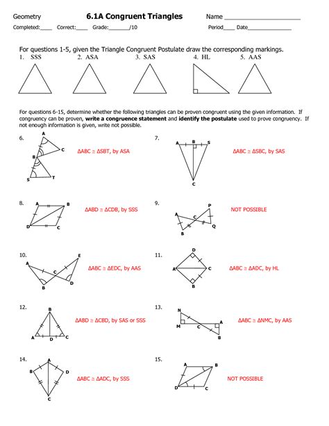 proving triangles congruent worksheet answers 13 best images of proving triangles congruent worksheet