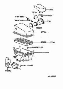 Toyota Rav4 Engine Air Intake Resonator  Box  Air Cleaner Hose  No 2