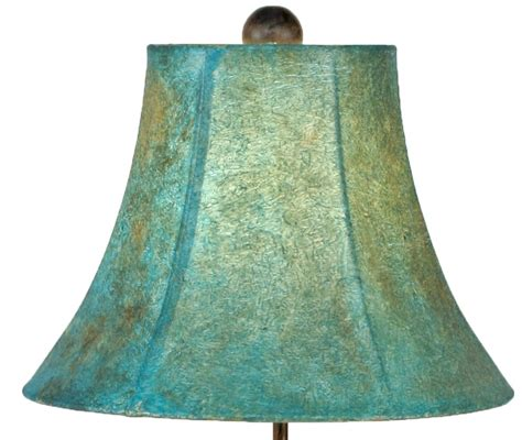 turquoise southwest iron table l shade 25 inch