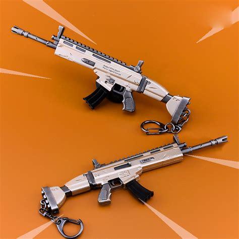 fortnite battle royale scar rifle weapon model keychain
