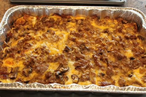egg casserole recipe easy easy sausage and egg breakfast bake confessions of a homeschooler