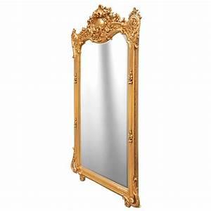 Miroir Doré Rectangulaire : grand miroir rectangulaire baroque dor ~ Teatrodelosmanantiales.com Idées de Décoration