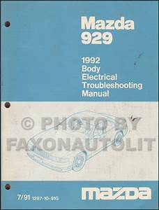 1992 Mazda 929 Body Electrical Troubleshooting Manual Original