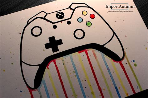 drawing  xbox  remote controller   draw