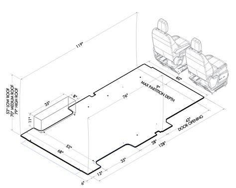 ford transit vehicle layouts