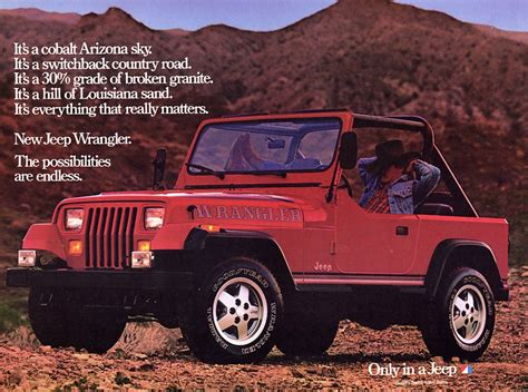 jeep wrangler ads the history of the all american jeep wrangler