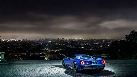Wallpaper Ford Gt, Supercar, Concept, Blue, Sports Car