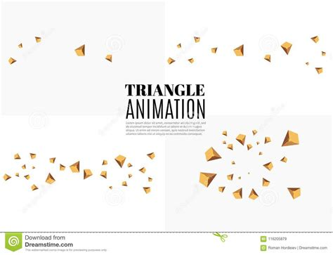 Psuedo element & background gradient animation & blur. Yellow Realistic Triangles And Golden Light Effects. 3D ...