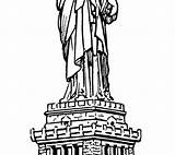 Statue Liberty Coloring Pages Printable Getdrawings Getcolorings sketch template