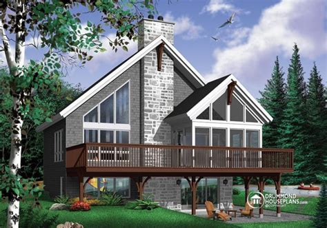 A Very Popular Rustic Chalet House Plan With Mezzanine